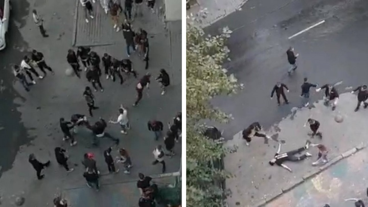 У шумного бара в центре Екатеринбурга произошла массовая драка. Один из участников потерял сознание
