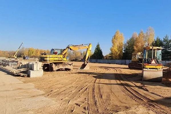 На площадке уже стартовали строительные работы