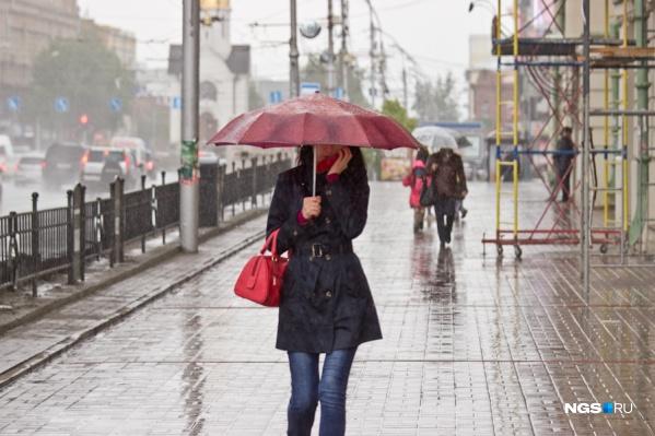 Новосибирск сейчас под влиянием холодного фронта