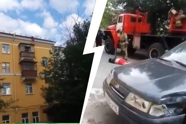 Упавшего с крыши мужчину доставили в больницу