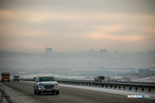 Режим неблагоприятных метеоусловий в Красноярске с начала года объявляли 4 раза