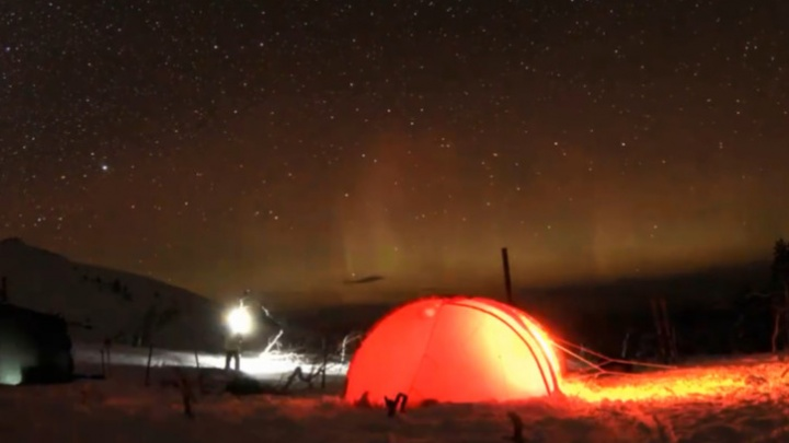 В Пермском крае засняли северное сияние. Удивительное видео
