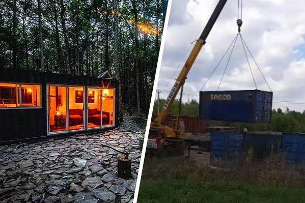 В Мичуринский привезли контейнеры, которые переоборудуют под теплые беседки