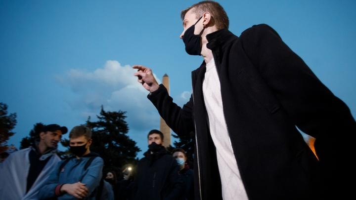 Несанкционированный митинг в Волгограде координировал 29-летний наркоман из Москвы