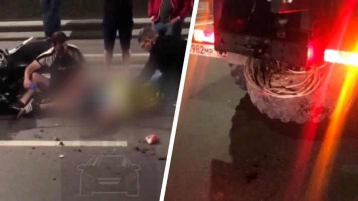 В ночной аварии на Северном шоссе погиб мотоциклист