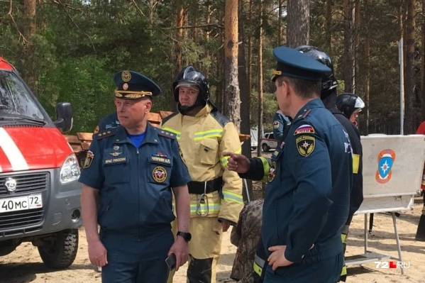 Александр Чуприян у Муллашей, где идет ликвидация лесного пожара
