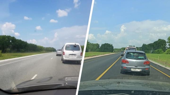 Под Новосибирском на Ордынском шоссе водители застряли в 15-километровой пробке