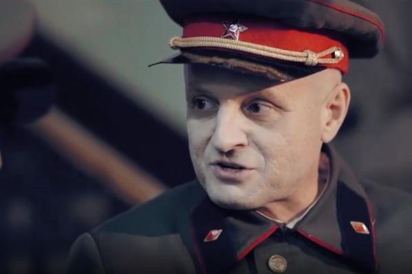 Роль Дмитрия Карбышева исполнил актер омского драмтеатра Александр Гончарук