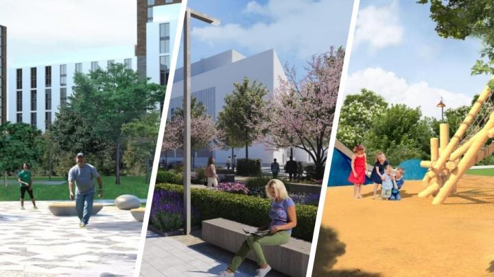 Найдите 10 отличий (или хотя бы 5): показываем проекты обустройства парков Екатеринбурга в 2022 году