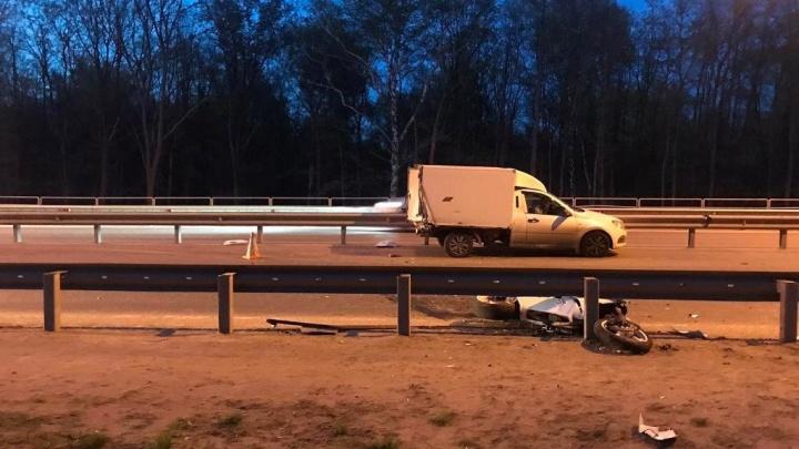 Водил без прав: в МВД назвали причину ДТП с мотоциклом на Красноглинском шоссе