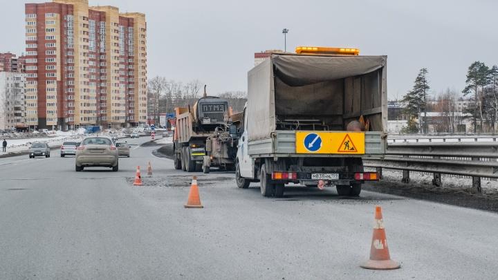 В Перми ограничат движение транспорта по путепроводу на Светлогорской