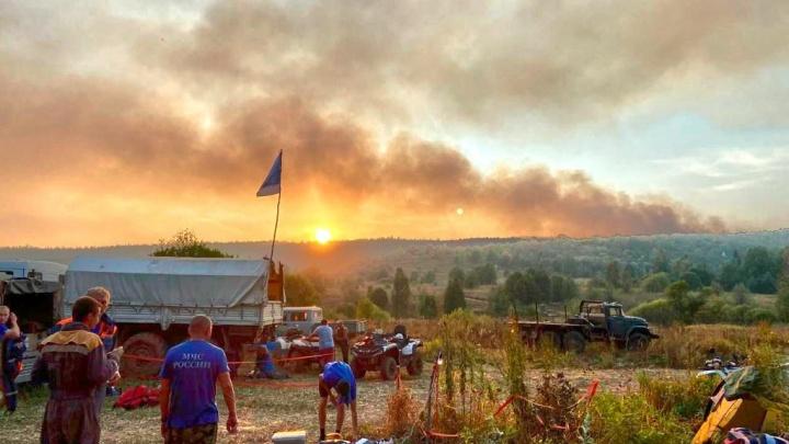 Люди тушат пожар ветками, огонь подбирается к городам: как бушует стихия в Башкирии