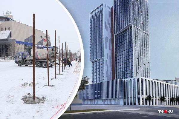 Рядом с ТК «Алое поле» и типографией появится самый высокий жилой небоскреб в Челябинске