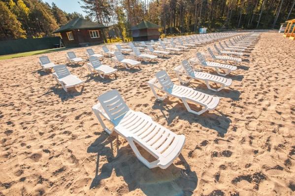 Здесь создали пляж по всем современным нормам и требованиям