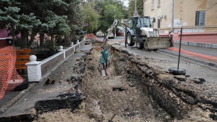 «Концессии теплоснабжения» перекопали Сурский сквер в центре Волгограда