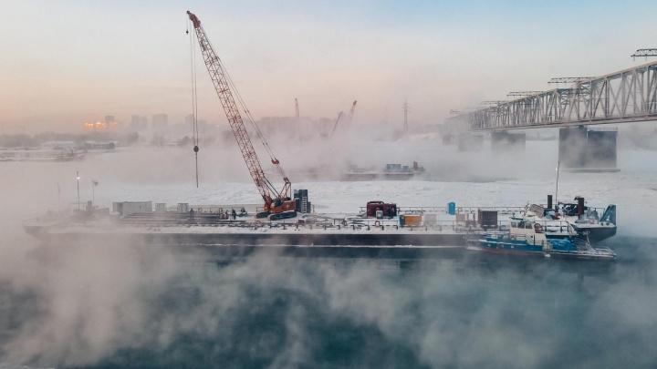 Новосибирец снял стройку четвертого моста через Обь с высоты птичьего полета