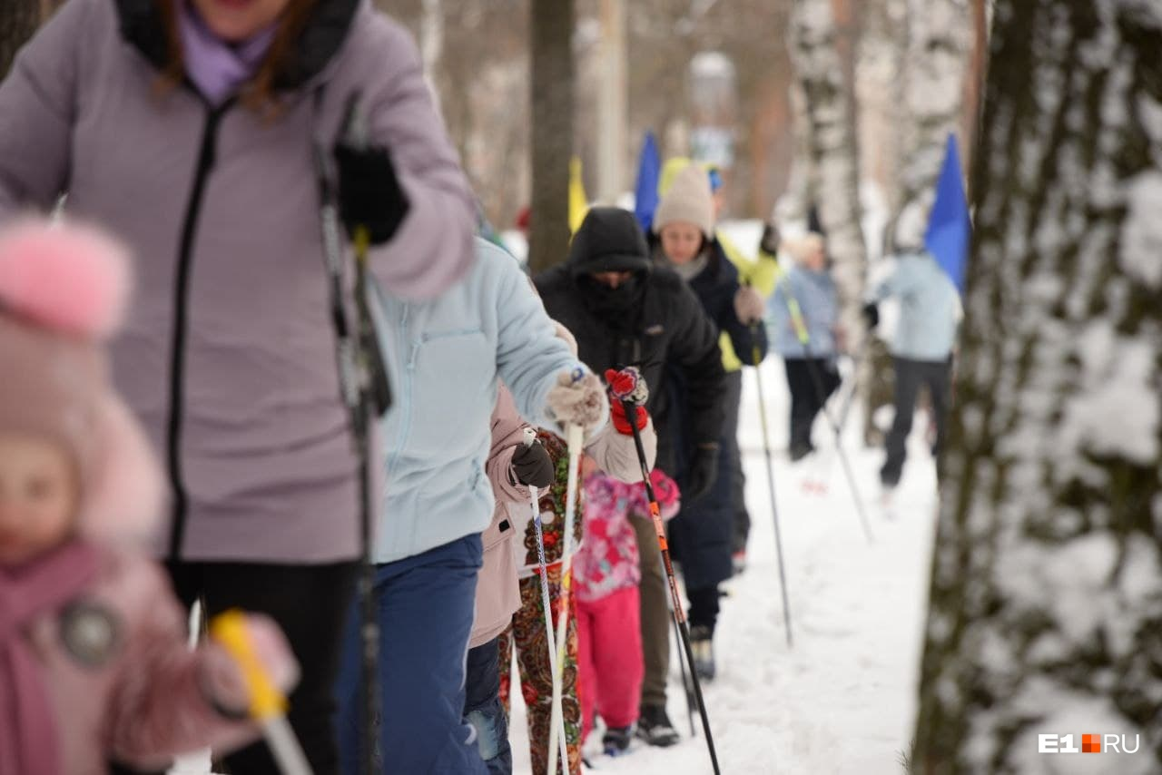 Большинство приехало участвовать в «Лыжне России» с семьей