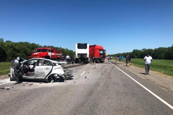 Авария произошла во Фроловском районе Волгоградской области