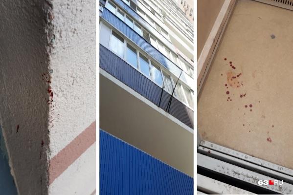 В доме, где случилась трагедия, много следов крови