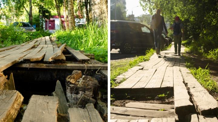 Топ-5 мест в Архангельске, где деревянные мосточки могут вас покалечить
