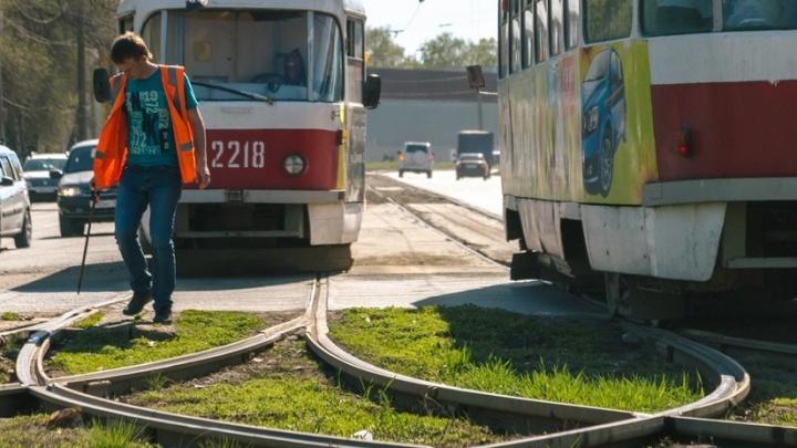 Вагончик ускорится: на Ново-Садовой отремонтируют трамвайные пути и поставят автострелку