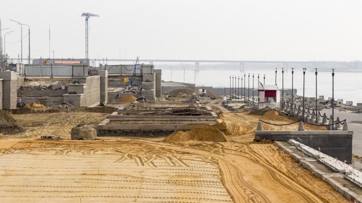Администрация оштрафовала «Стройтрансгаз» за срыв реконструкции центральной лестницы на набережной Волгограда