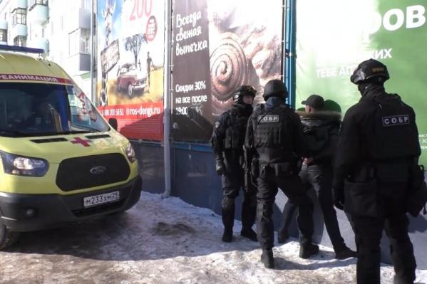 Момент, когда сотрудники СОБРа задержали Александра Колодешникова