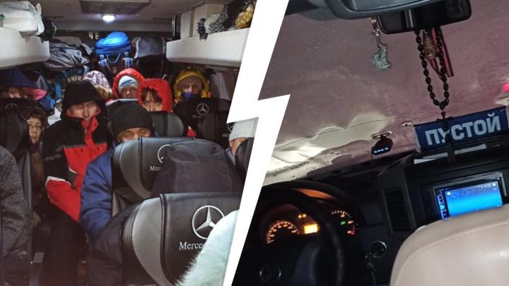 «Люди замерзают, истерика у всех»: автобус с туристами из Екатеринбурга застрял на трассе под Магнитогорском