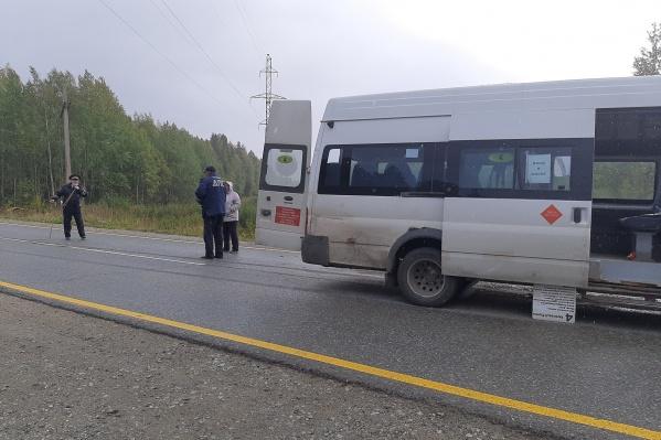 В микроавтобусе ехали пять пассажиров