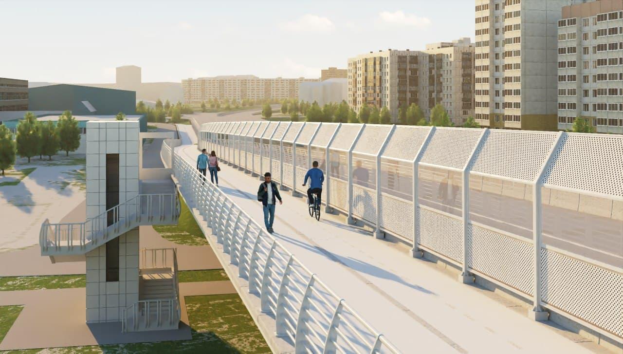 Визуализация с улучшениями для пешеходов и велосипедистов