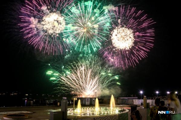 Фестиваль, как обычно, завершится грандиозным фейерверком