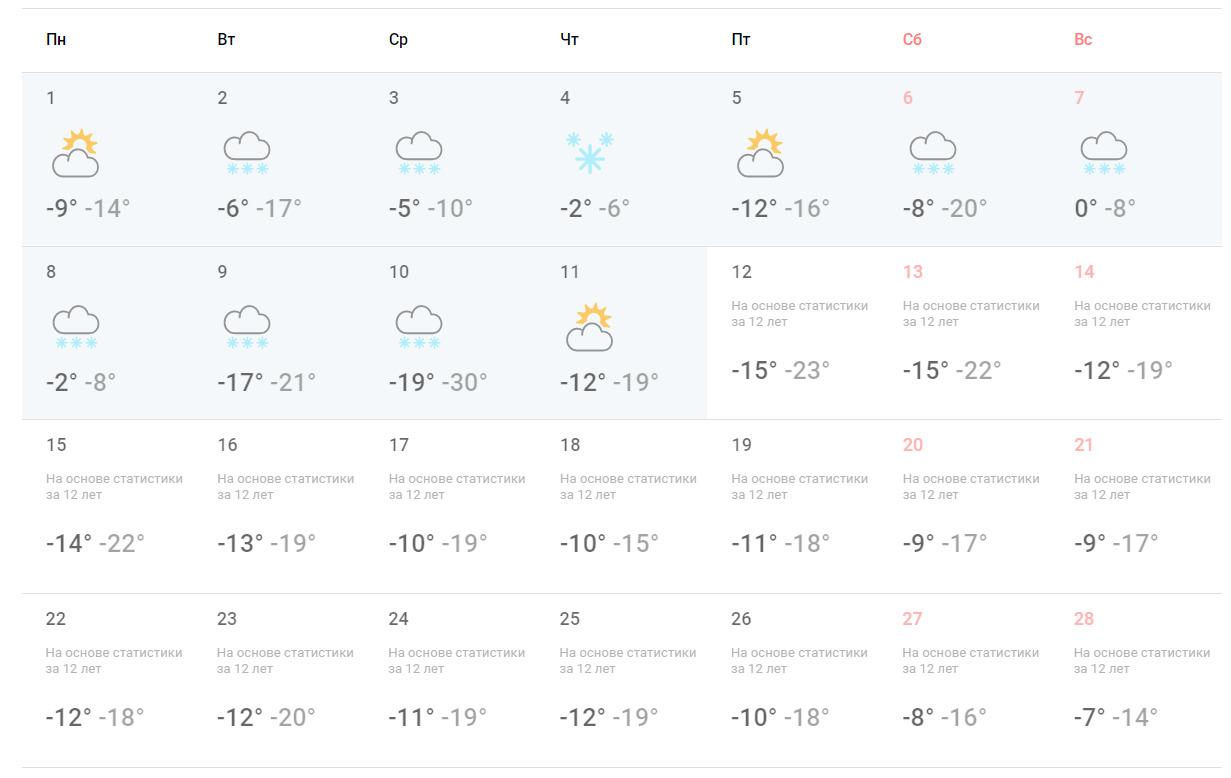 В первой декаде февраля в Новосибирске установится облачная погода