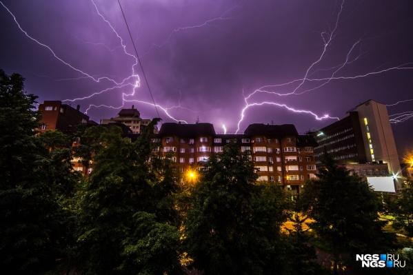 Местами в регионе ожидаются сильные грозы, град и ливни