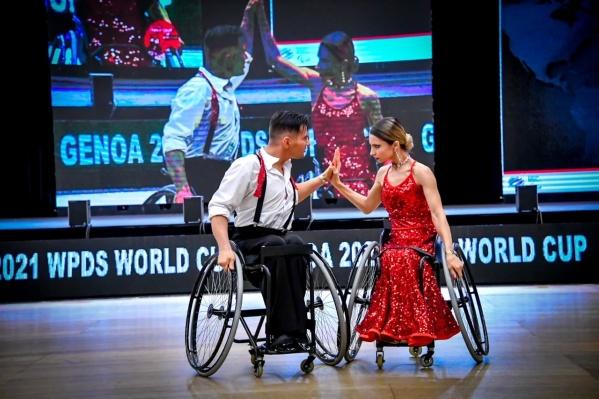 Юлия и Игорь Давыдовы завоевали на Кубке мира сразу несколько медалей