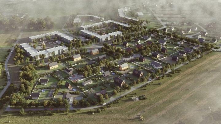 Никто не заметил: на юго-востоке Екатеринбурга построили первые дома нового района на 150 000 жителей