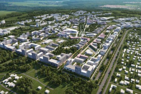 Примерно так новый микрорайон на Волгоградской должен выглядеть через семь лет