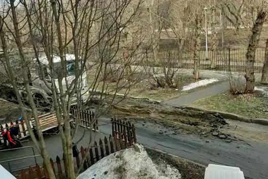 Екатеринбуржцы пожаловались на технику, которая уничтожила дорогу у снесенного здания ПРОМЭКТа. Видео