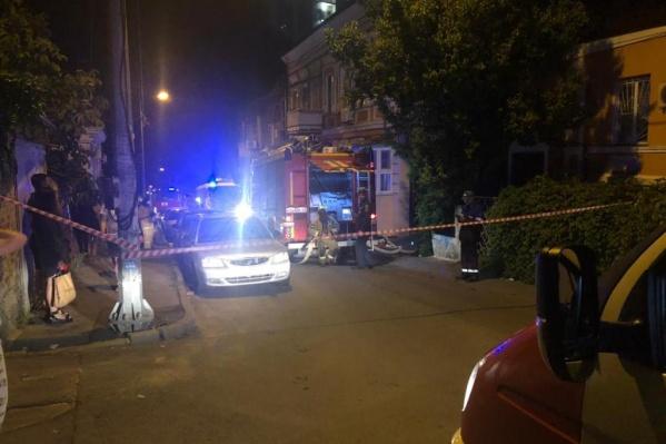 О пожаре на Островского сообщили в 9 часов вечера