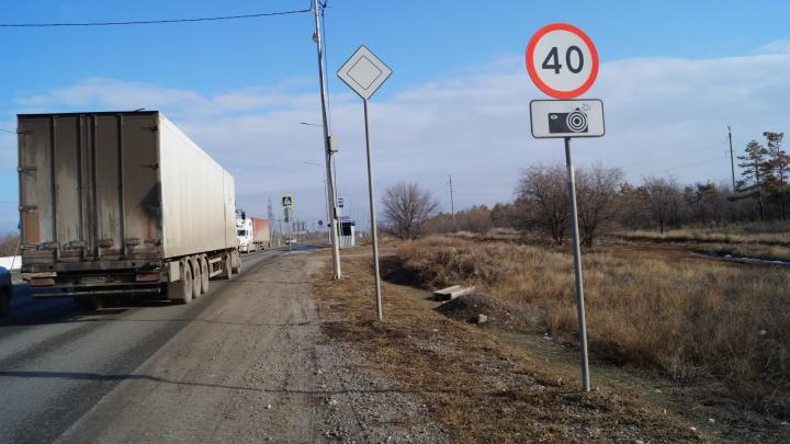 «Черепахи плетутся быстрее, чем законопослушные водители»: на въезде в Волгоград со стороны Ростова ограничили скорость до 40 км/ч