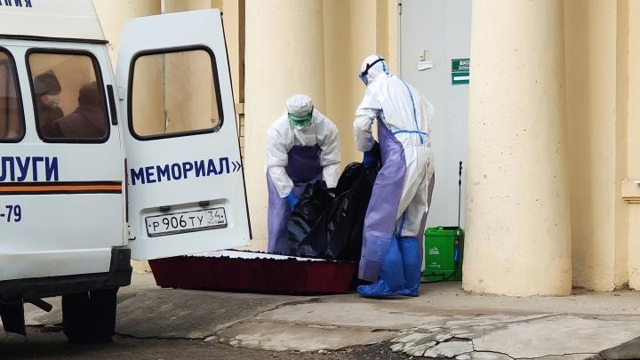 В Волгоградской области зарегистрировано больше двух тысяч смертей от коронавируса