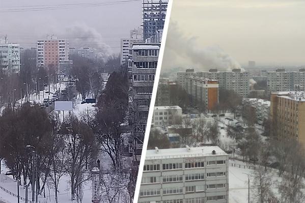 Дым от пожара был виден из разных районов города