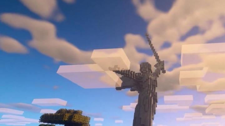 Младшеклассник из Смоленска собрал копию «Родины-матери» в Minecraft