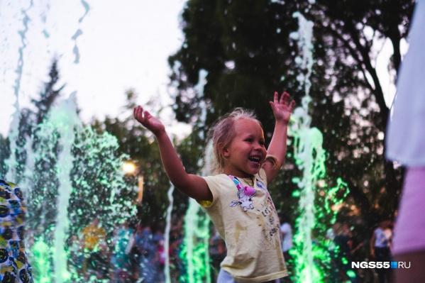 Дети первыми оценили новый фонтан