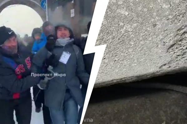 Якова Калинина задержали несмотря на то, что на нем был бейдж «Пресса»