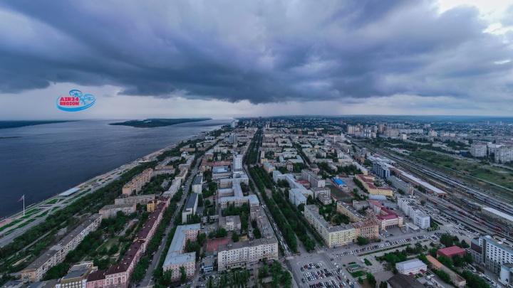 Первый июньский дождь вылил на Волгоград месячную норму осадков