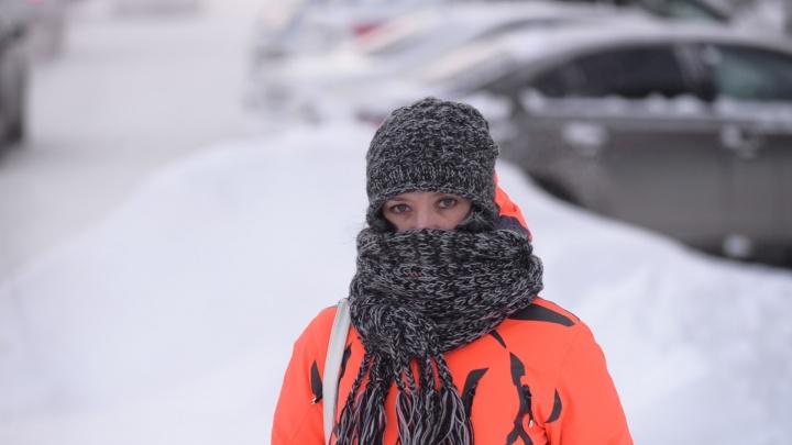 Утепляемся: в ночь на субботу в Екатеринбурге похолодает до минус тридцати градусов