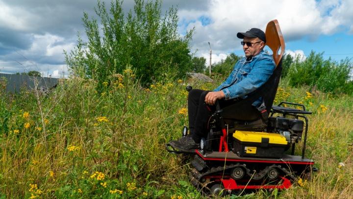 Архангелогородцы изобрели мини-вездеход для людей с инвалидностью. Смотрим, как он устроен