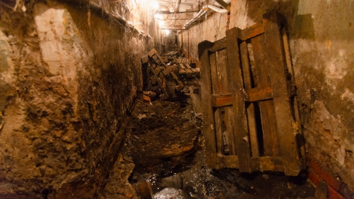 Дом обычный, подвал — как в триллере. Архангелогородец провел жуткую экскурсию и показал вечный потоп