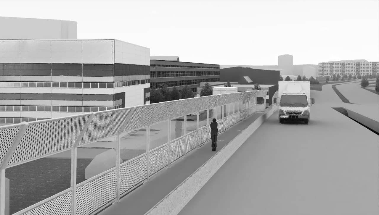 Визуализация проекта развязки у «Калины» 2014 года