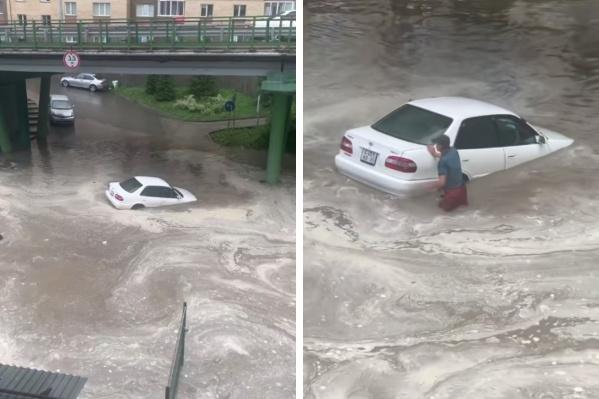Машина не смогла преодолеть такое «море»